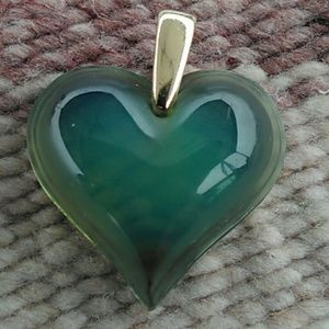 Jewelry - Vintage Lalique heart pendent 18k gold Vail